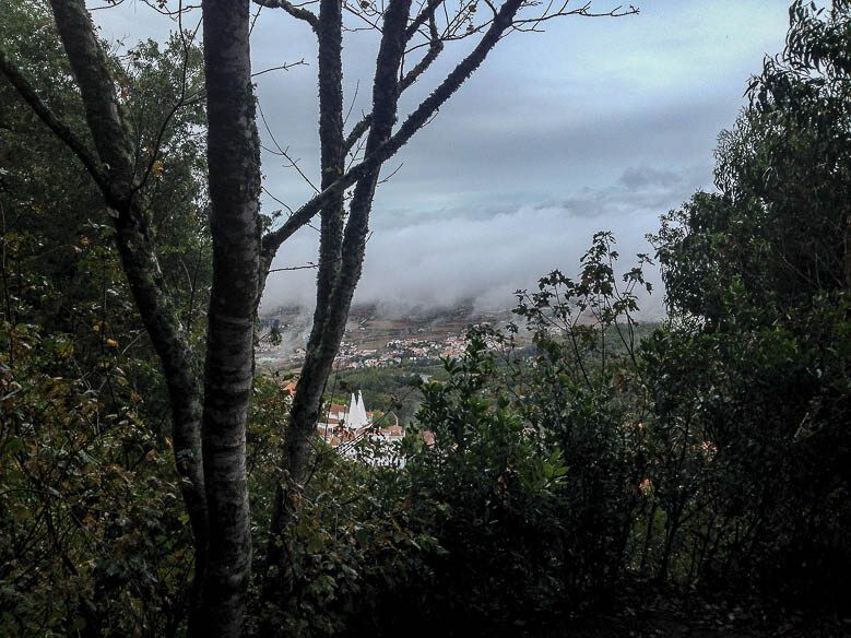 View from the trail to Castelo dos Mouros