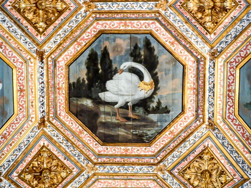 Sintra's National Palace Swan Room