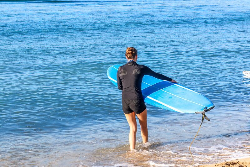 Surfing with Maui Surfer Girls