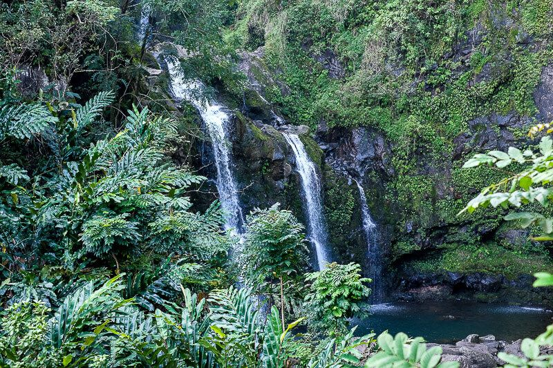 Road to Hana Guide: Three Bears Falls