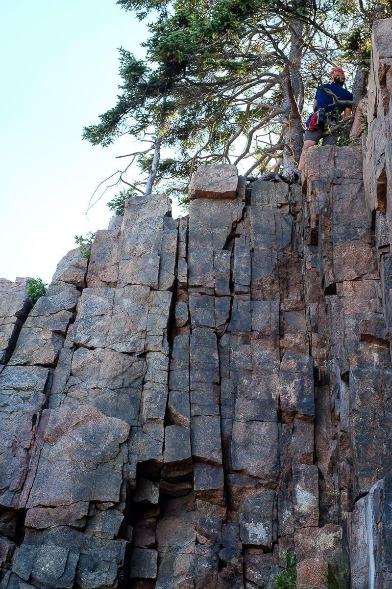 Rock Climbing in Acadia National Park: Pebble Beach