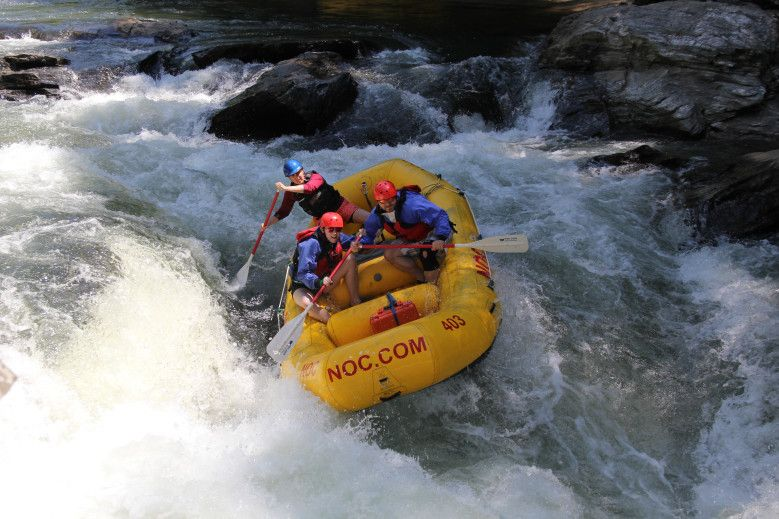 Whitewater Rafting Down the Chattooga