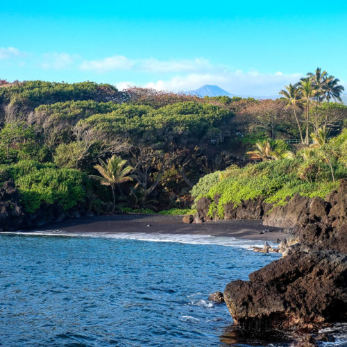 Camping on Maui: Our Private Black Sand Beach