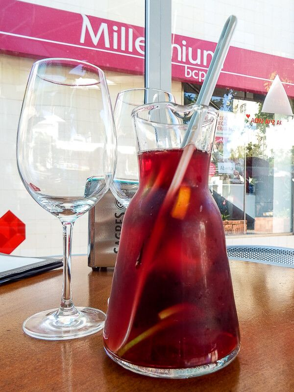 Drinking Sangria in Lagos, Portugal; Portugal Itinerary