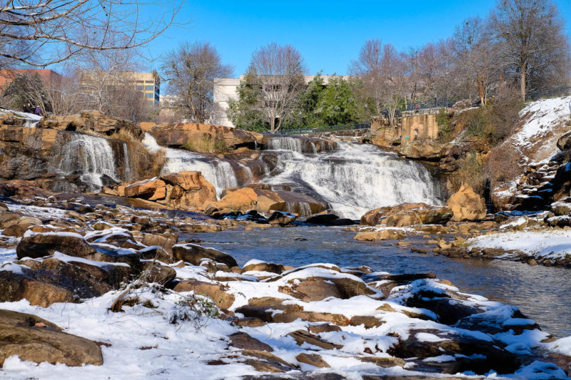 Greenville, SC in the snow