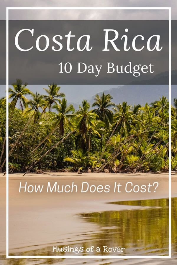 How much does a trip to Costa Rica cost? Find out in my full breakdown of transport, accommodations, excursions, entrance feeds, food and drink, and souvenirs. Use my Costa Rica expenses and budget guide and find out what your Costa Rica budget should be.