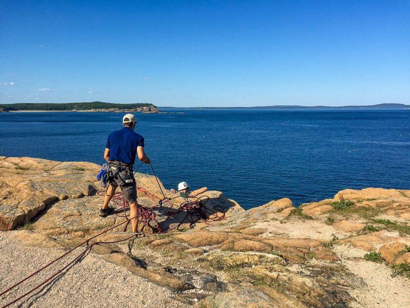 Rock Climbing in Acadia National Park: Otter Cliffs