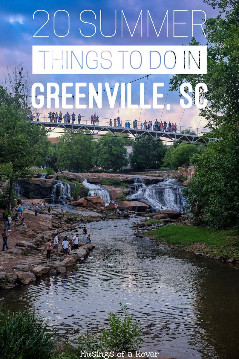Traveling to Greenville, South Carolina this summer? Or are you a local looking for something to do this weekend? Here are 20 things to keep you busy! Everything from festivals, live music, plays, concerts to everyday activities like visiting Cleveland Park or taking a day trip to Traveler's Rest.