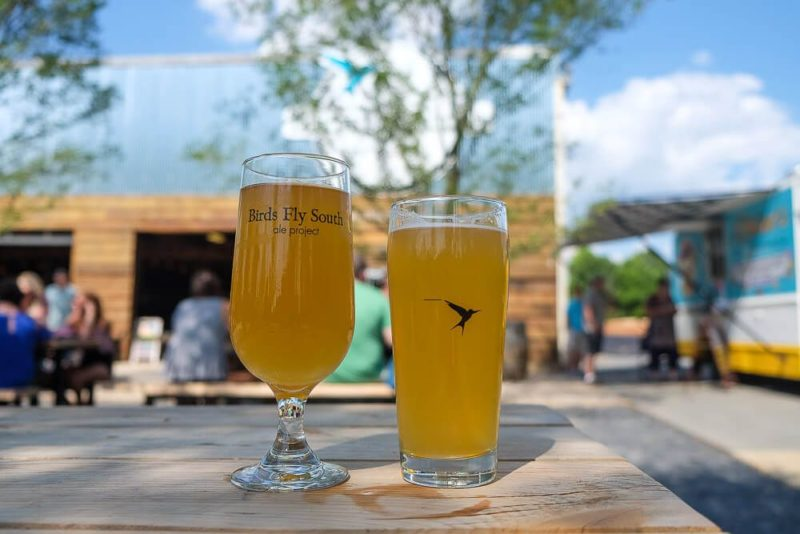 Things to do in Greenville in Summer: Birds Fly South Brewery in Greenville, SC