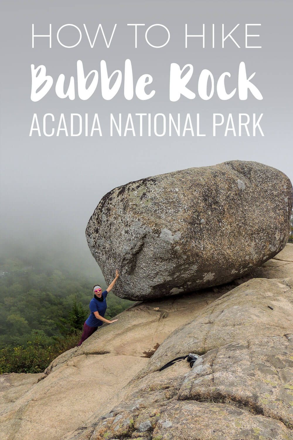 Interested in hiking the Bubble Rock Trail to see Bubble Rock in Acadia National Park? Find out all you need to know for this iconic site! bar harbor, acadia national park, things to do acadia national park, things to do bar harbor,