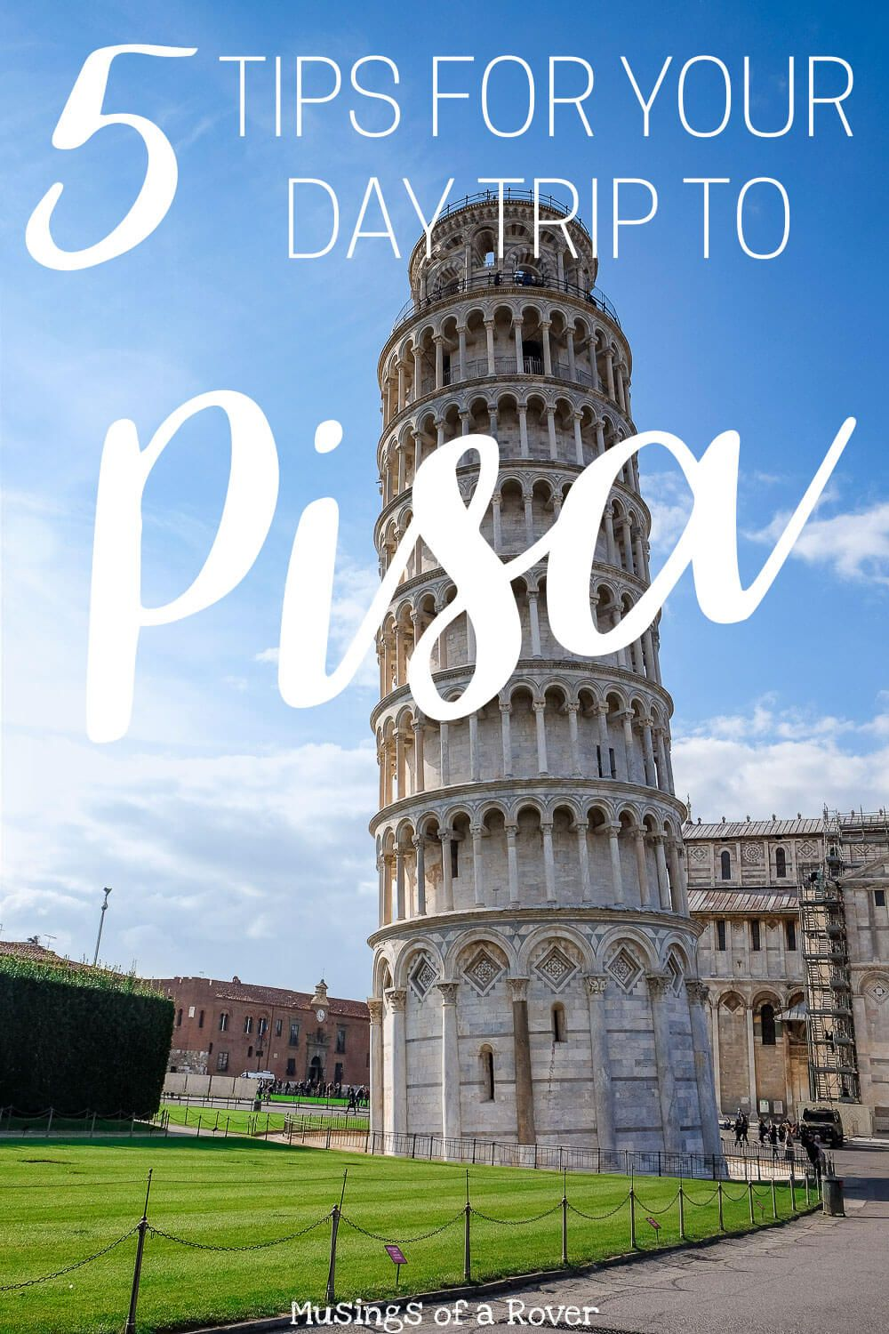 Want to see the leaning tower of pisa? Consider making a day trip out of it! It's only about an hour from Florence and you can easily go for just the day. Here are 5 tips to help you prepare for seeing this famous landmark! florence travel tips, italy travel tips, italy things to do, florence things to do, italy guide, florence guide, italy travel advice, florence travel advice, pisa travel tips, pisa things to do, leaning tower of pisa