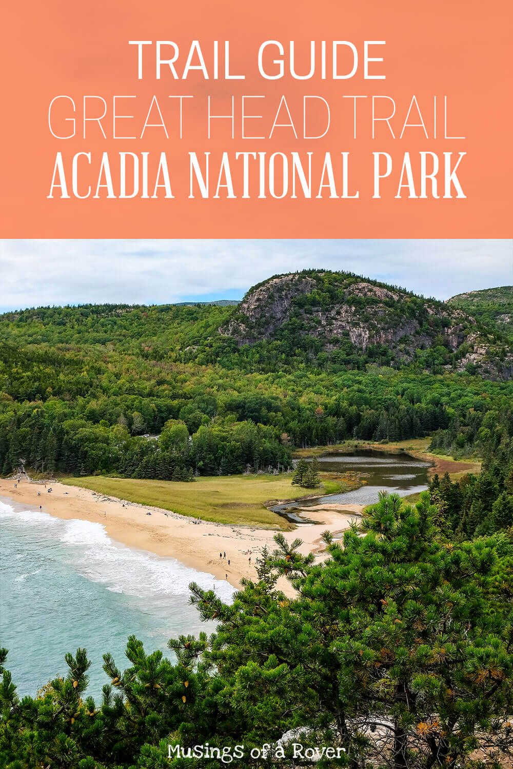 Interested in an easy hike with incredible coastal views? Check out the Great Head Hike near Sand Beach in Acadia National Park. It's fairly level with only one truly steep section. Find out all you need to know in my trail guide! bar harbor, acadia national park, things to do acadia national park, things to do bar harbor, maine, maine travel, maine things to do