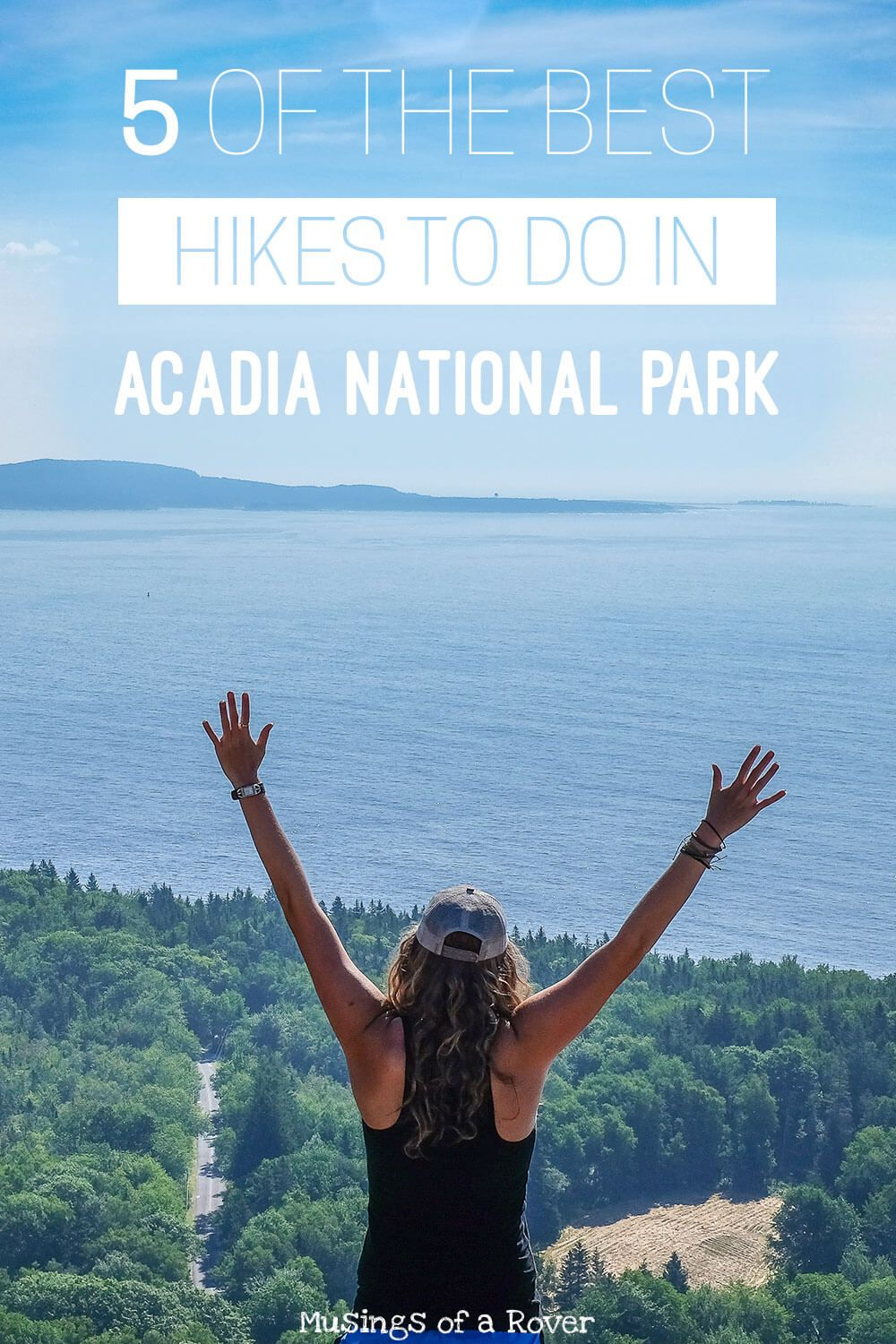Want to know what the 5 best hikes in Acadia National Park are? These are the ones you don't want to miss on your first visit to this national park! I include everything from a challenging, iron-rung hike to an easy 1/2 mile stroll atop Cadillac Mountain. You definitely don't want to miss one of these hikes - they are your Must Dos for Acadia National Park!