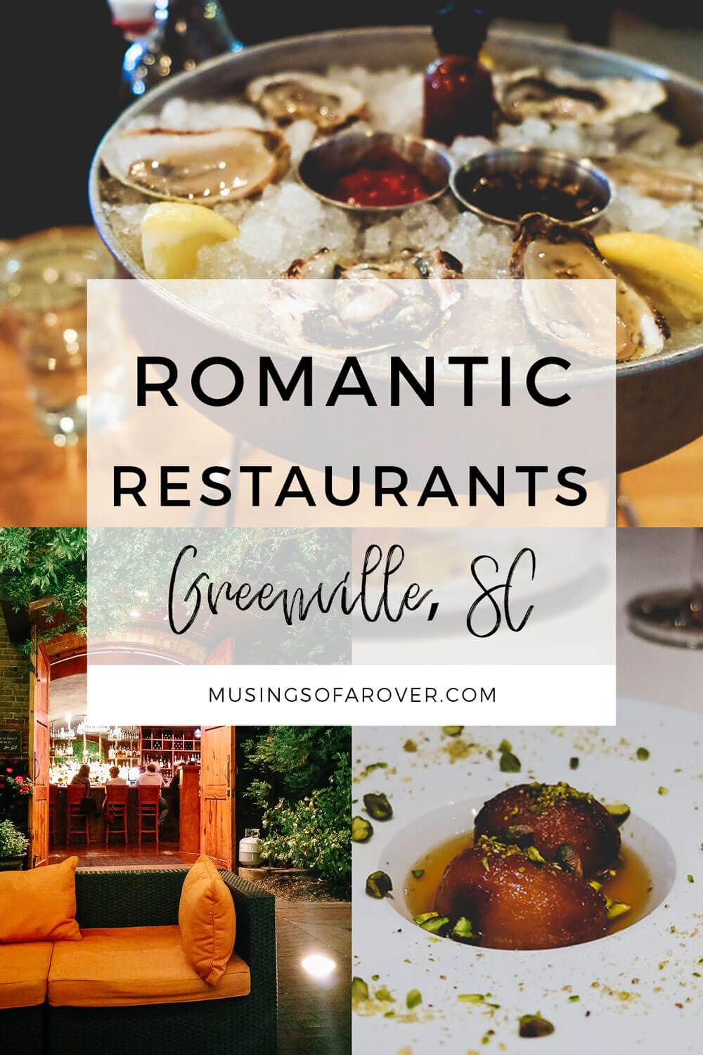 Looking for romantic restaurants in Greenville, SC? Finding a nice, classic, upscale, fancy, and romantic restaurant in Greenville can be difficult. There are so many options! But after years of eating my way through the city, these are my favorites. This is where I go for that special occasion whether it be a Friday night date or an anniversary dinner.