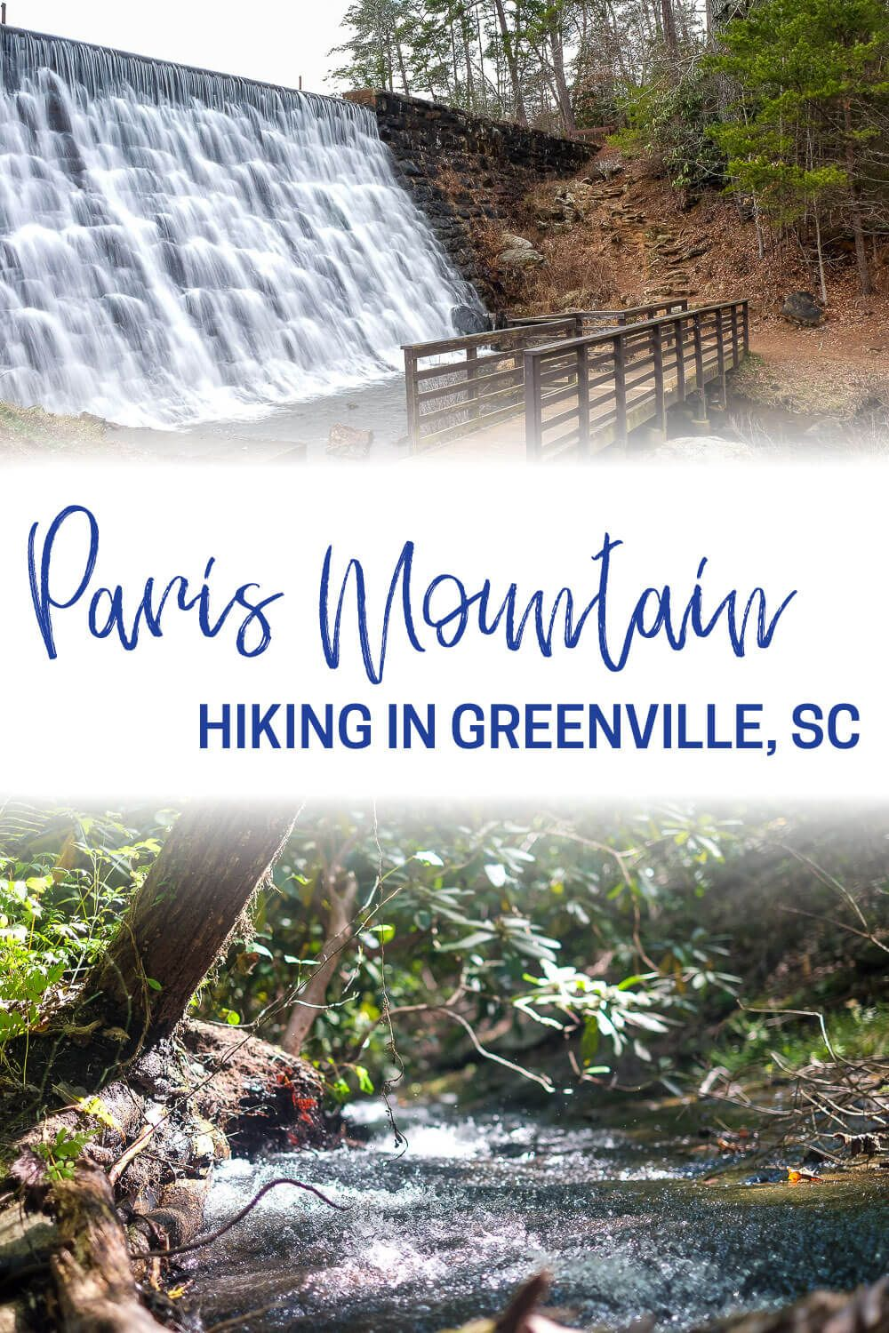 Paris Mountain State Park is Greenville, SC's closest go-to hiking destination. Find out which trails you should explore on your next trip to this state park! This is one of my top things to do in Greenville on a weekend anytime of year. Some of these trails are hiking only, but others are open to mountain bikers as well!