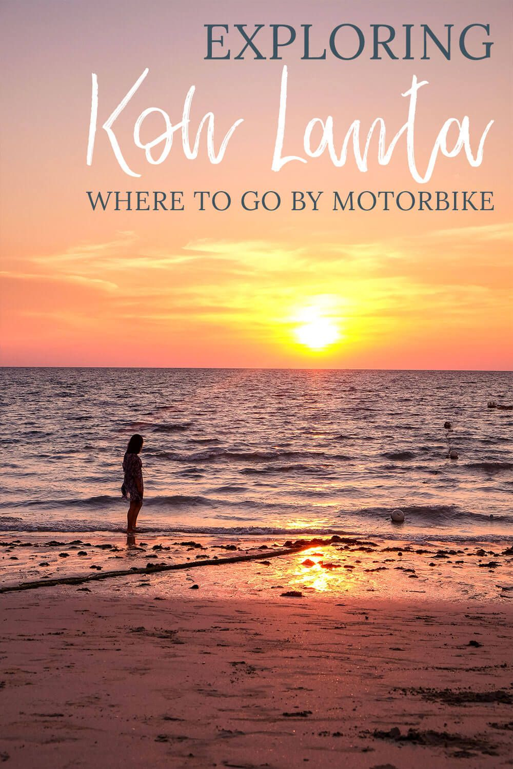 Renting a motorbike is one of the best things to do in Koh Lanta! Find out where you need to go to explore the island's beautiful southern beaches. Tips on driving a motorbike in Thailand are included as well if this will be your first time on a scooter. I think Koh Lanta is the perfect place to learn and there are long stretches of road without many hills. You definitely don't want to miss out on seeing these gorgeous beaches!