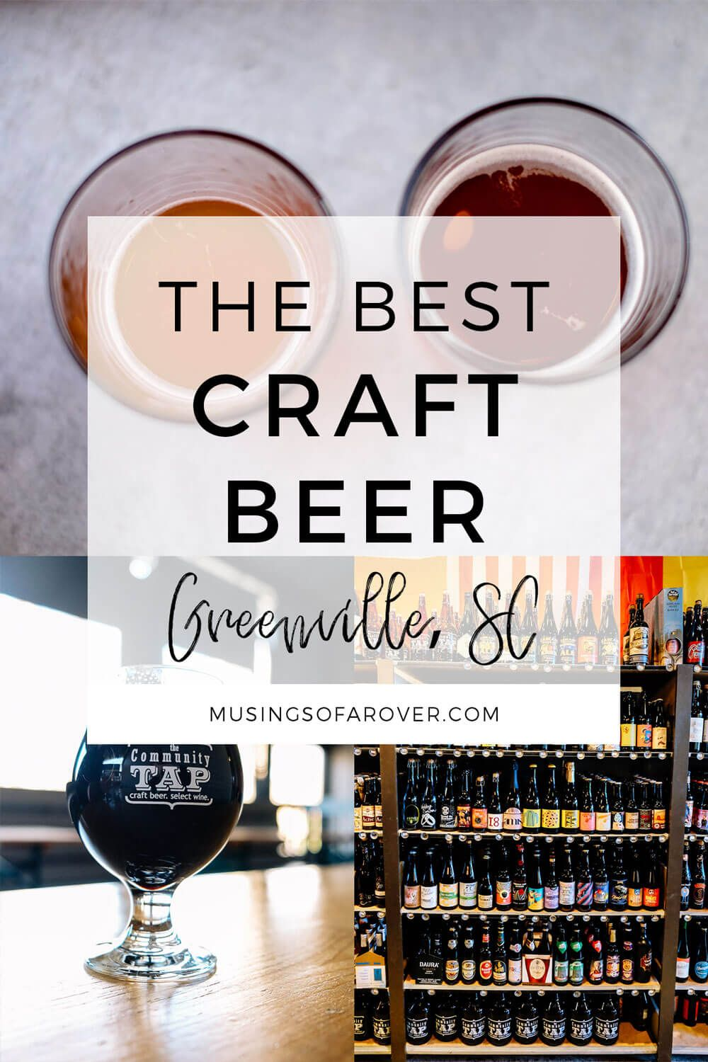 Looking for great craft beer in Greenville, SC? This is town has so many great bars, taprooms, breweries, and more. Here's a list of 10 local favorites to get you started for your own bar crawl!