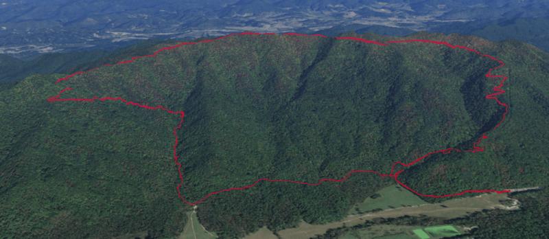 Rich Mountain Loop Trail Google Earth
