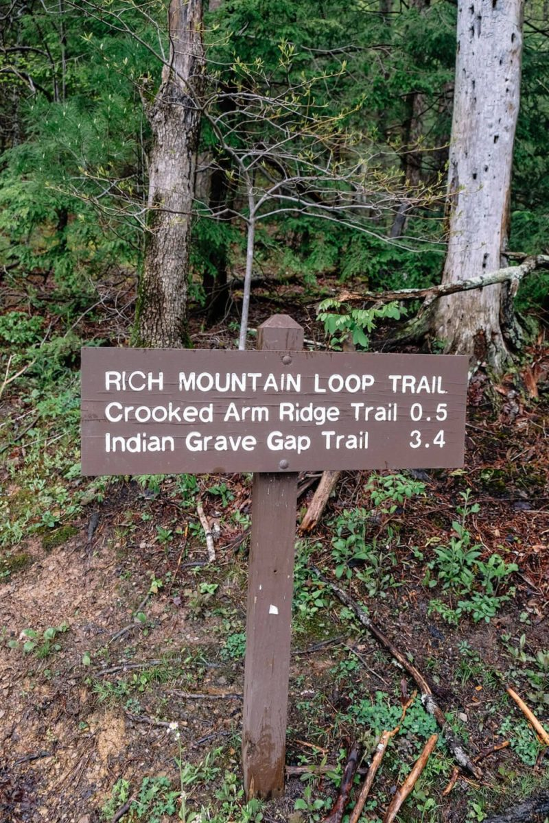 Rich Mountain Loop Trailhead