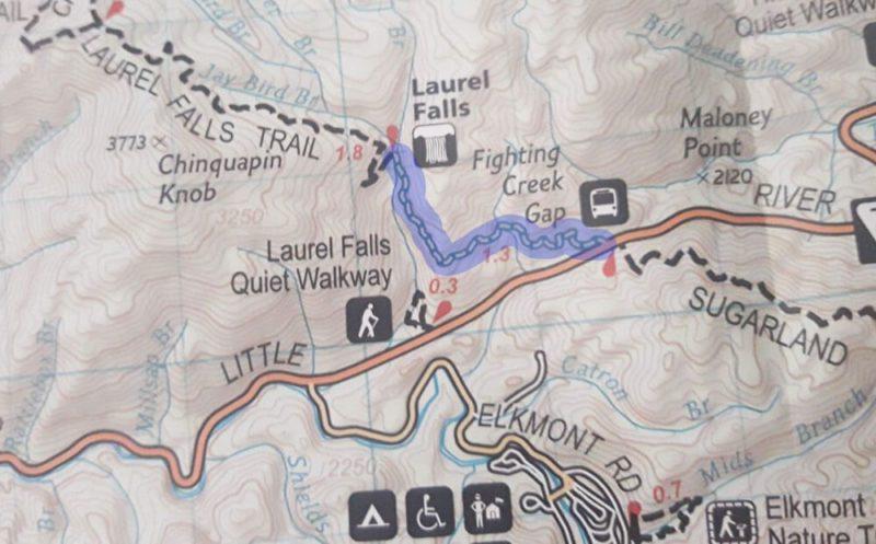 Laurel Falls Trail Map