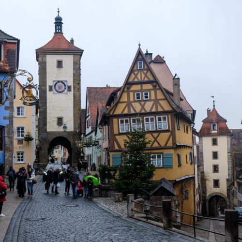 Rothenburg, Germany in December