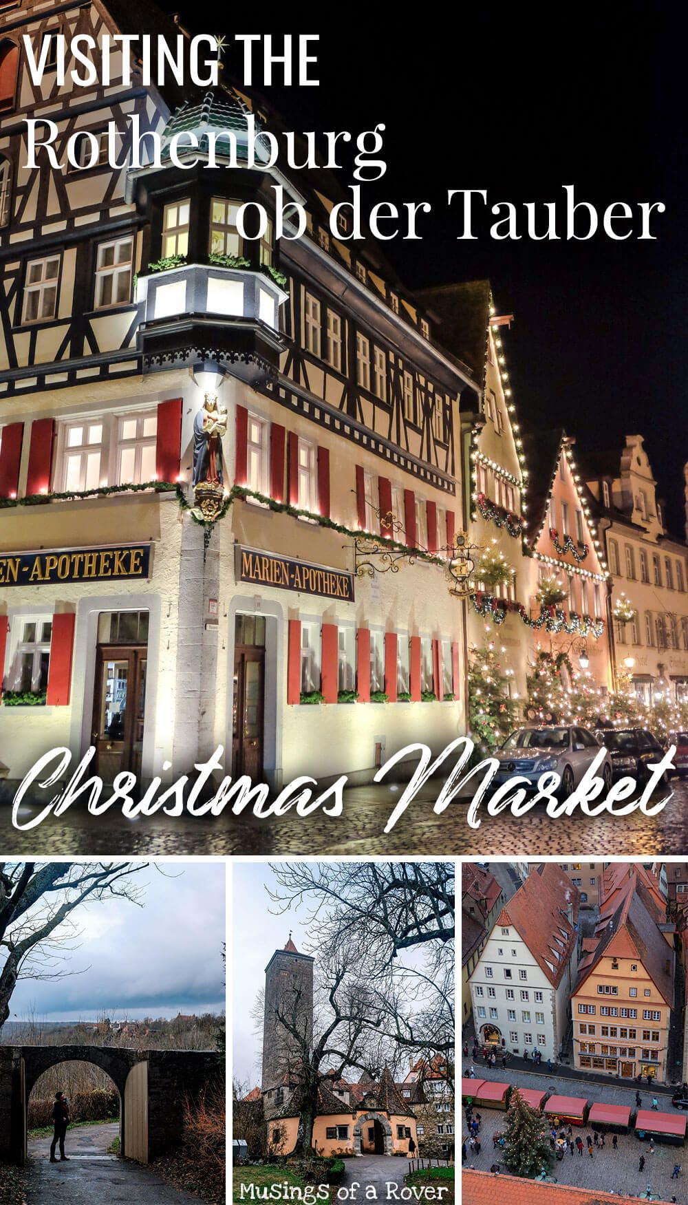 Interested in visiting the Rothenburg Christmas Market? Find out what to expect and what else you can do in this medieval town in Germany! Rothenburg ob der Tauber, Germany