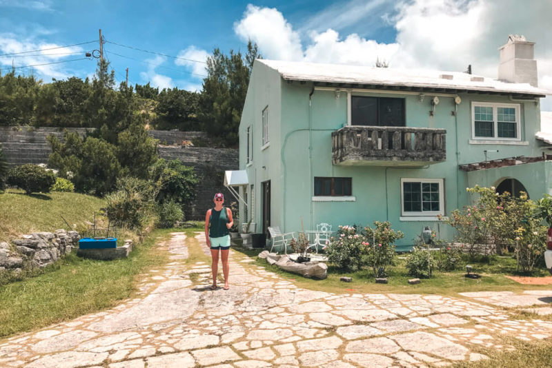 Airbnb in Bermuda. Our suite was the ground floor accessed from the side.