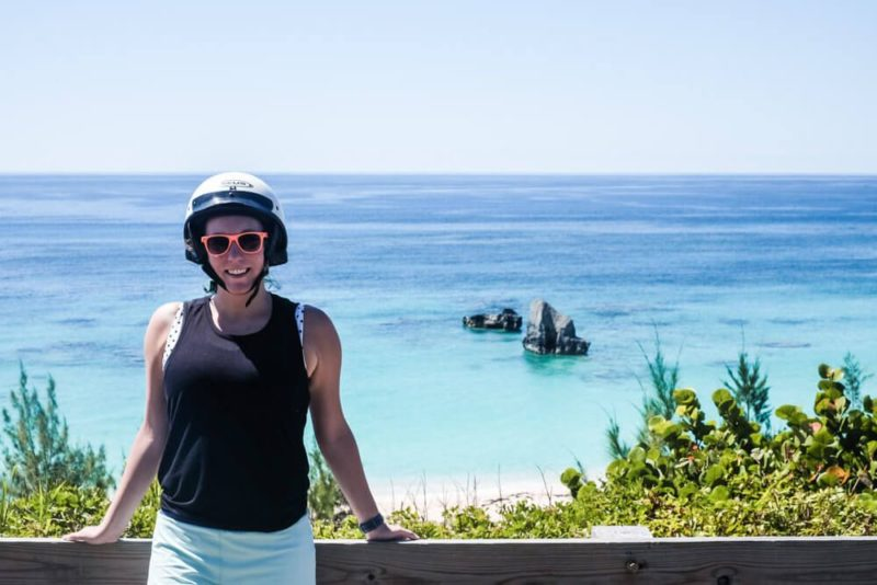 Renting a scooter in Bermuda