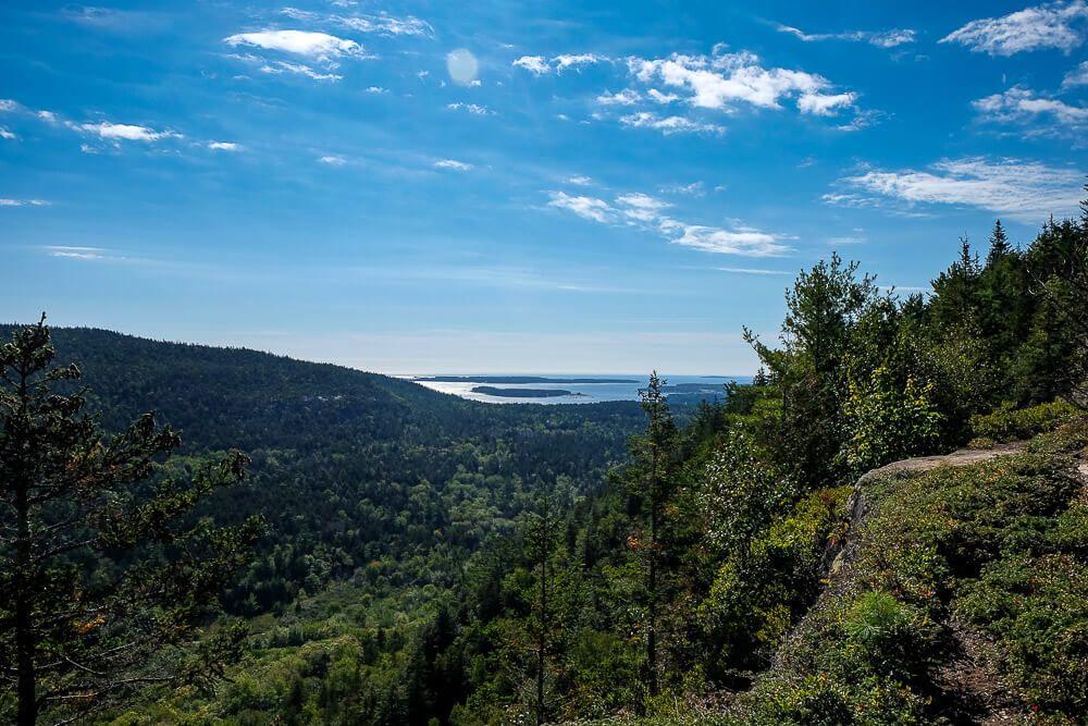 beech cliff trail looking towards atlantic ocean