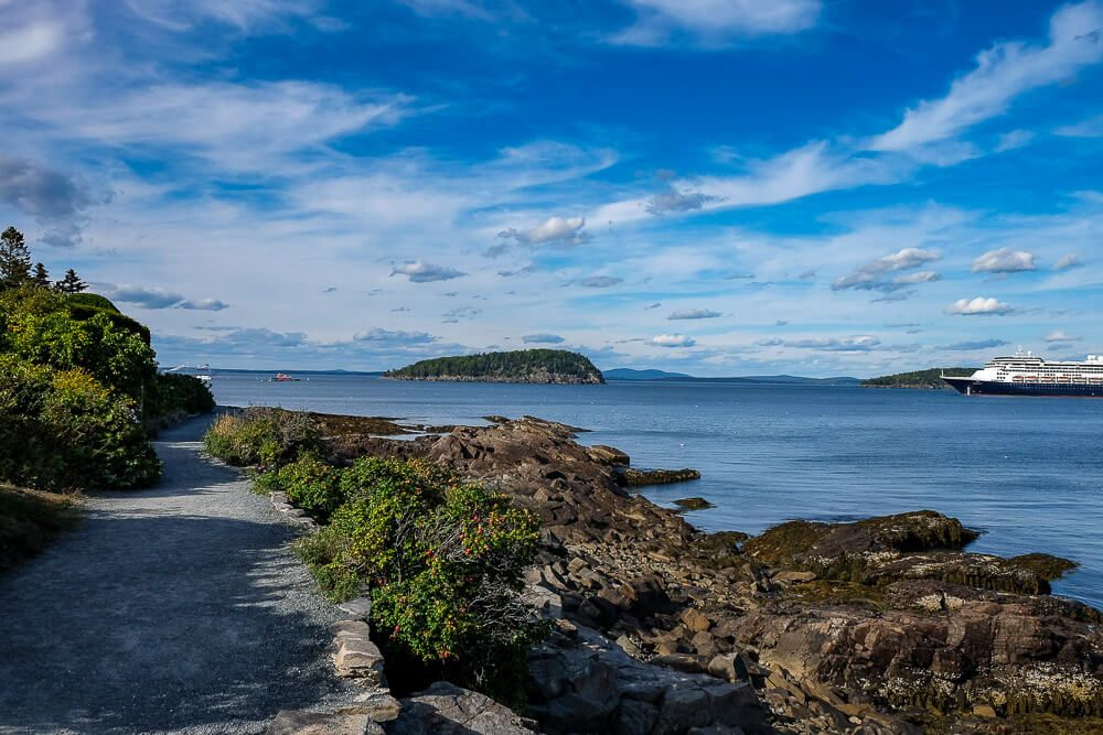 shore path bar harbor