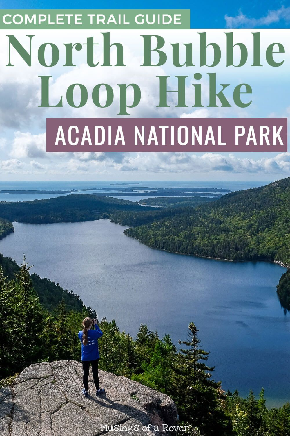 Acadia National Park has lots of amazing hikes. And the Bubbles Trail is one of them. You can hike up to the summit of South Bubble and see Bubble Rock, but if you want amazing views of Jordan Pond and Eagle Lake without the crowds, then consider hiking to North Bubble instead. Or you can combine both Bubbles into this loop hike. Definitely consider this for your next trip to Acadia National Park!