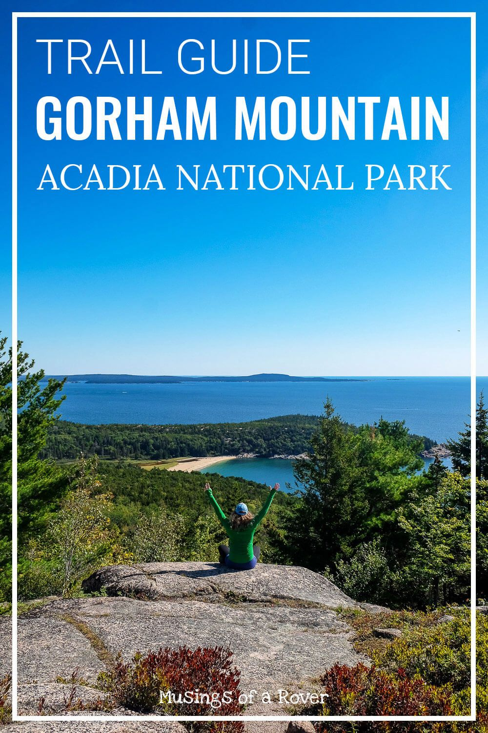 The Gotham Mountain Trail Loop is a great hike for those touring the Park Loop Road. It's a bit of a longer hike, but it combines some of the best elements from this side of Acadia National Park. You'll hike up the Beehive, a classic, iron-rung. The Gorham Mountain summit will give you sweeping views from Otter Point in the south to Sand Beach and the Beehive in the north. It ends along the Ocean Path, one of best and easiest trails in the park. This is a great hike for your Acadia itinerary.