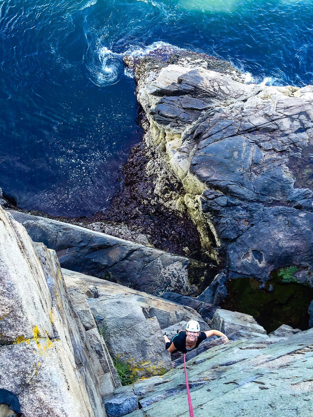 rock climbing: One day in acadia national park