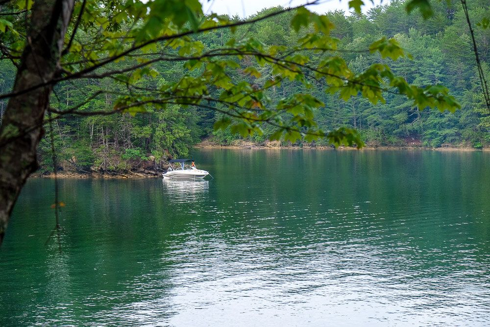 Site 15 Boat in campsites at lake jocassee