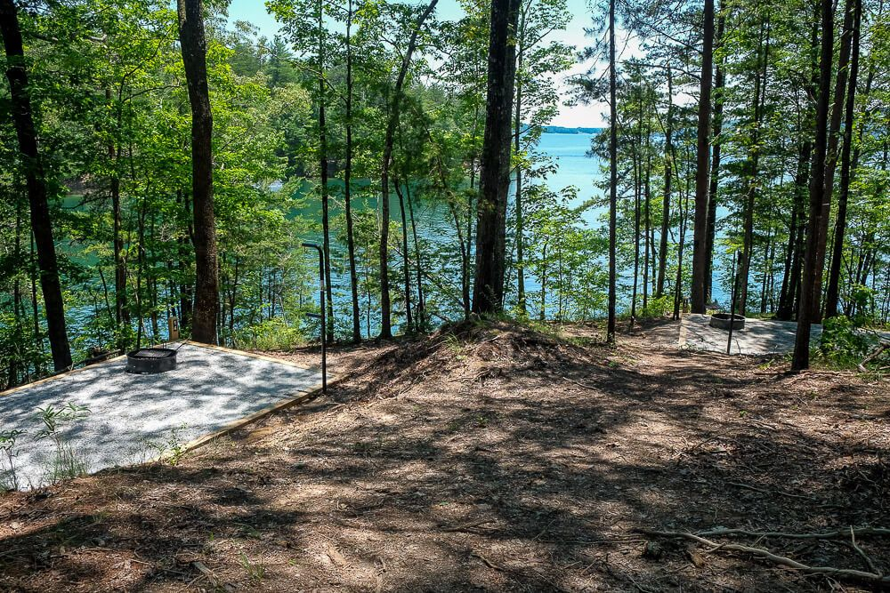 Site 14 & 15 Boat in campsites at lake jocassee