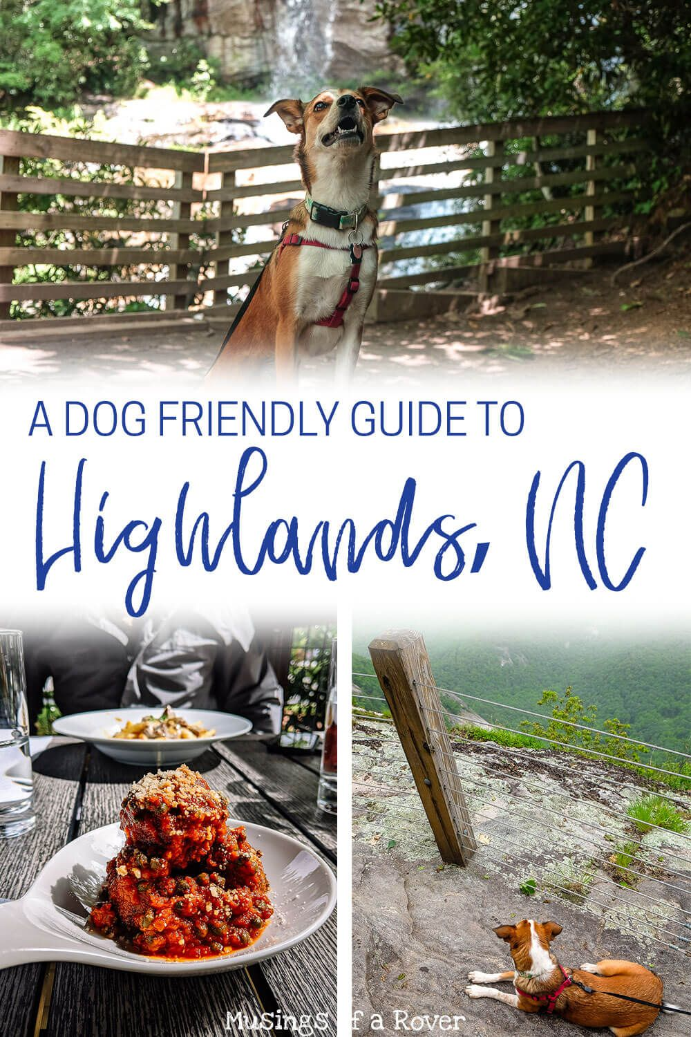 A dog friendly guide for your weekend trip to Highlands, NC. Includes where to stay, where to eat, and things to do including hikes, waterfalls, attractions, breweries, and more. If you need a mountain escape but want to bring your dog along, then Highlands might be for you!
