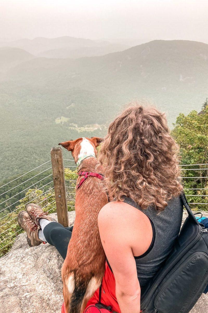 whiteside mountain trail, highlands nc