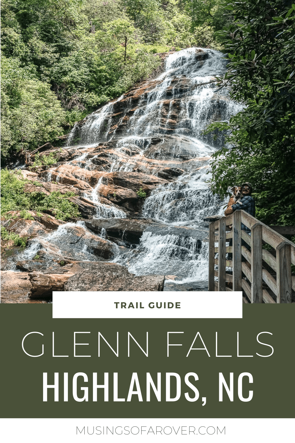 The Glenn Falls Trail located outside of Highlands NC is a moderately difficult hike you should add to your trip! This hike will give you some amazing views of the cascades of the Glenn Falls as you wind down to the hillside to 3 different viewpoints. And since it's less than 2 hours away fro Greenville, SC, it makes a wonderful day trip.