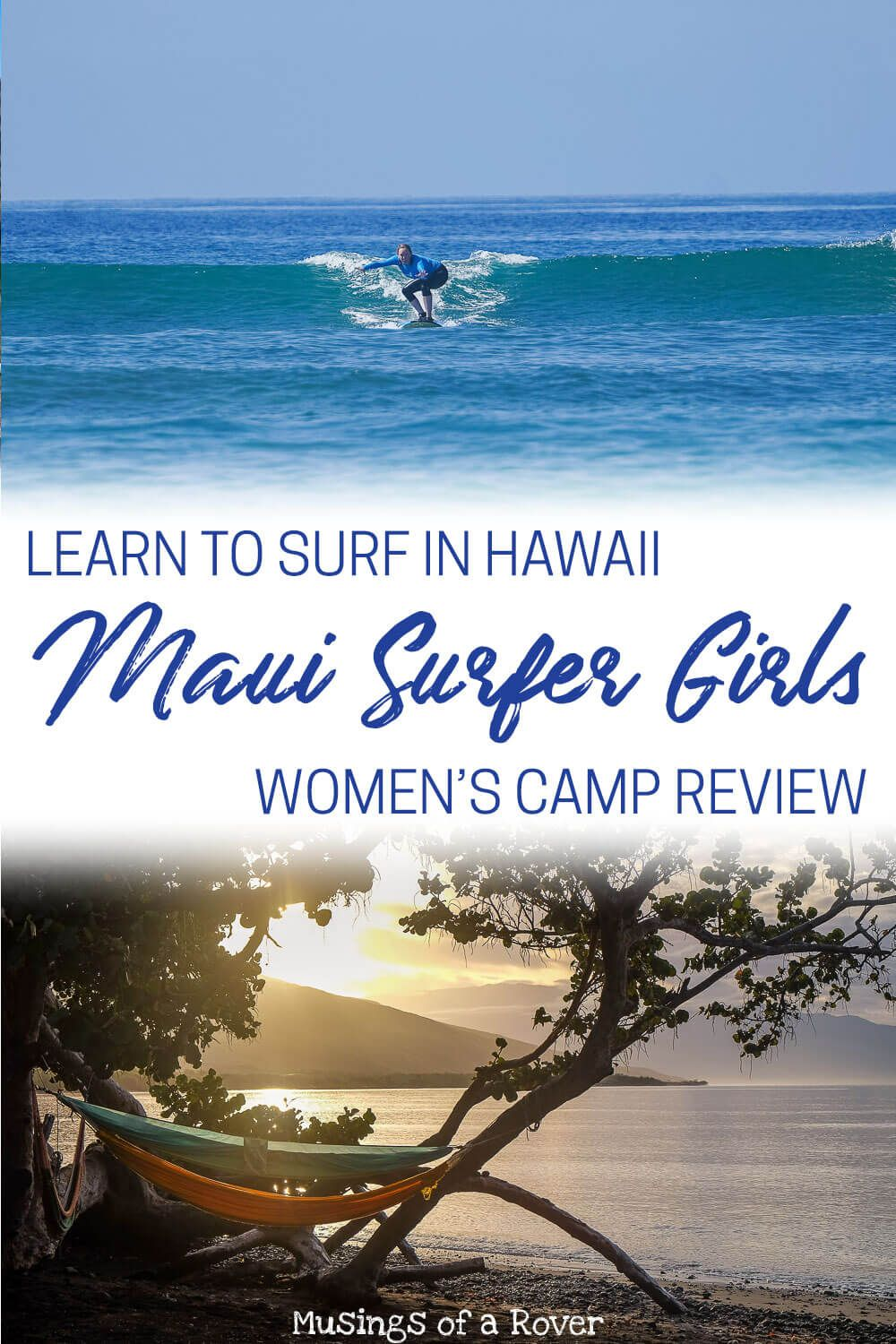 Want to spend a week in Maui learning to surf? This women's surf camp was one of the best weeks of my life. The surf retreat includes 5 days of surfing with professional instructors, delicious food, cabins that open onto the beach, and additional activities like hiking, yoga, massage, sailing tours, and more.