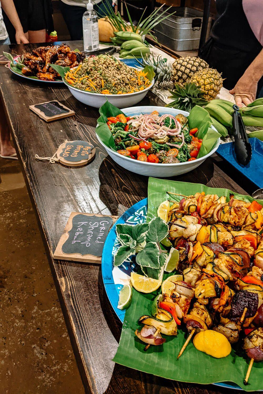women's surf camp food