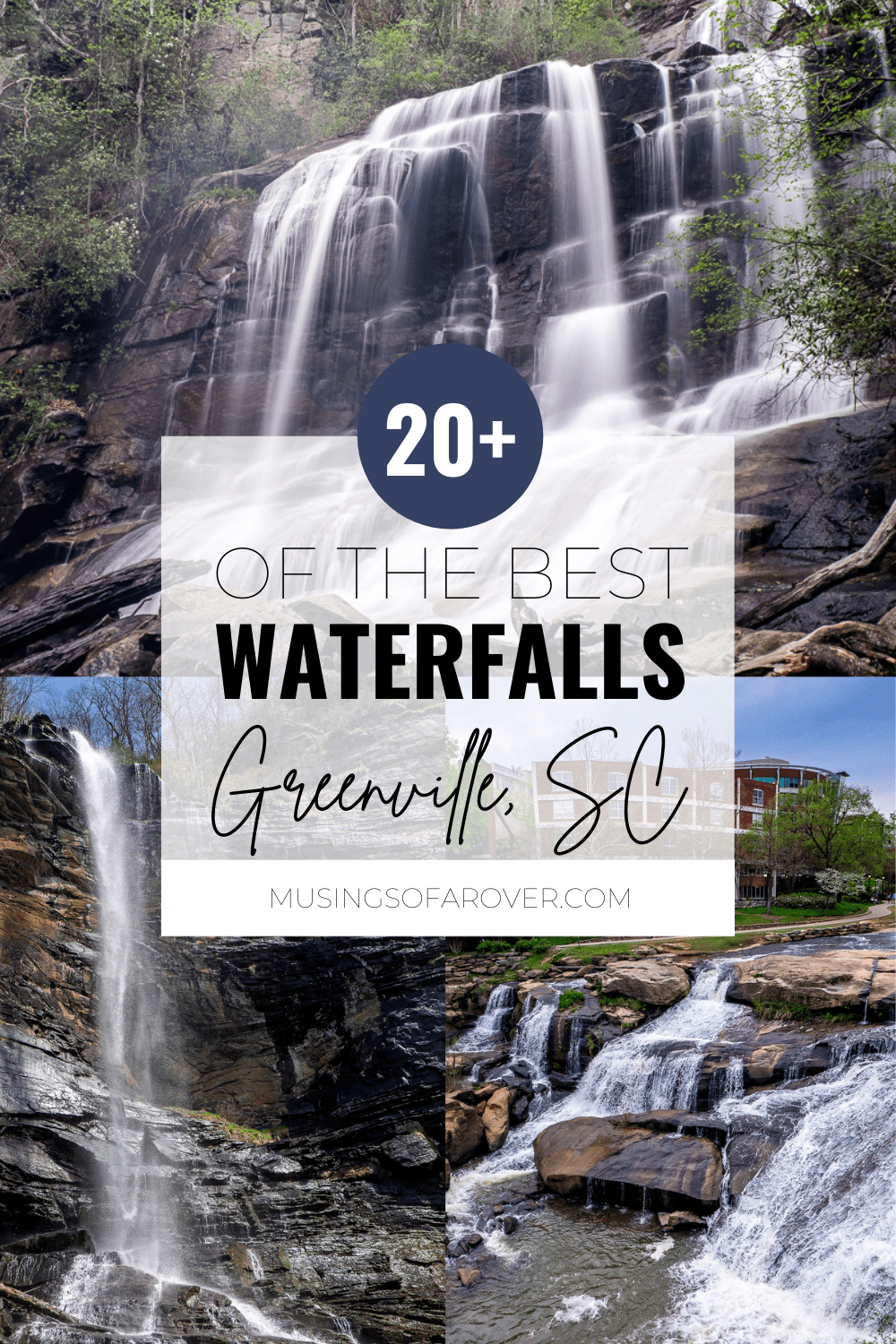 Are you looking for the best waterfalls near Greenville, SC? This list includes waterfalls within 2 hours and has links to their location, information on any hiking required, and a link to a full trail guide. Plan waterfall filled day trip for your summer adventure here!