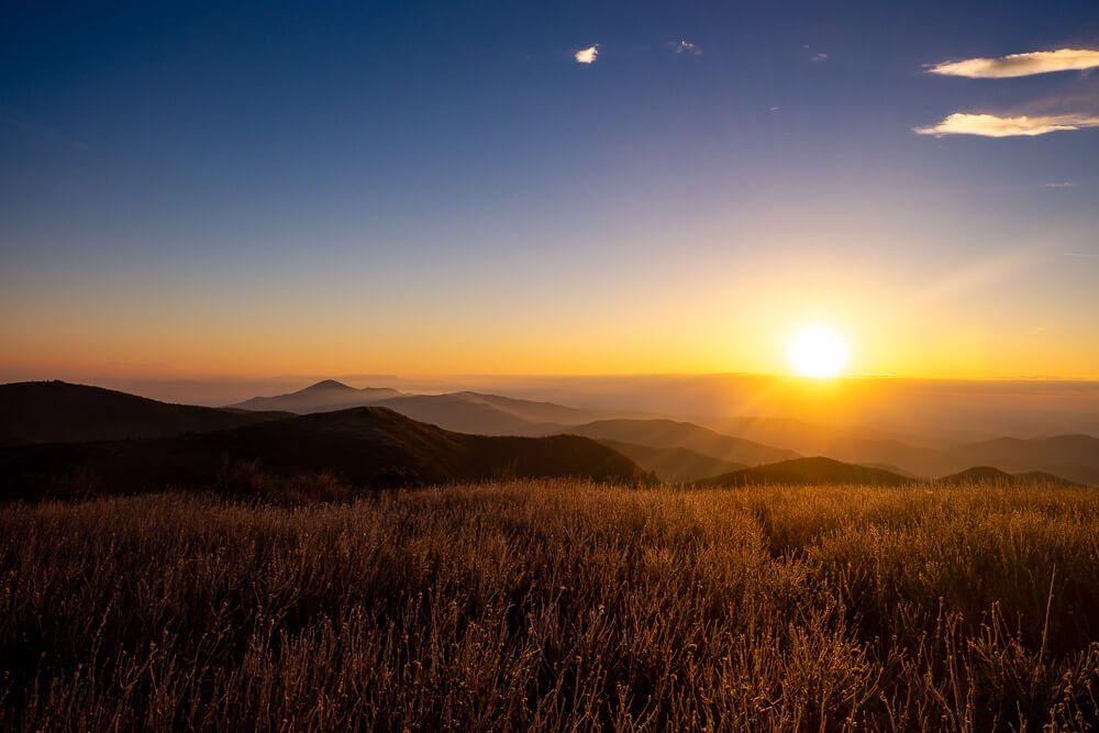 sunrise pisgah national forest
