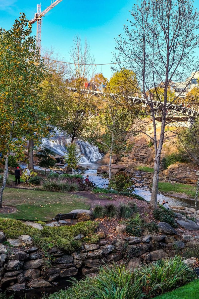 falls park in greenville, sc