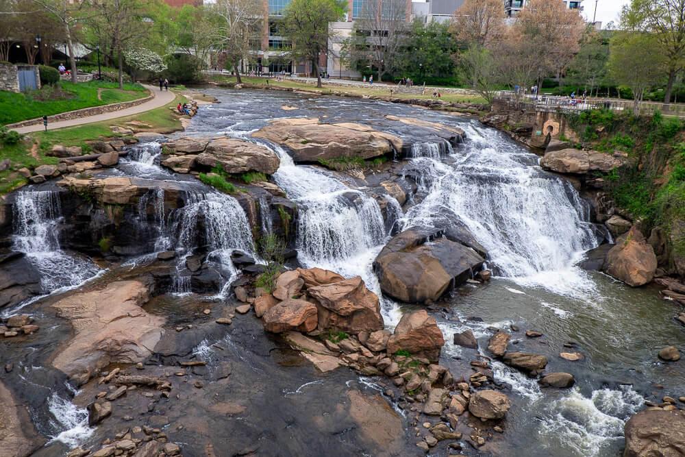 reedy river falls in greenville, sc