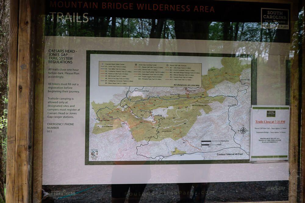 caesars head state park map
