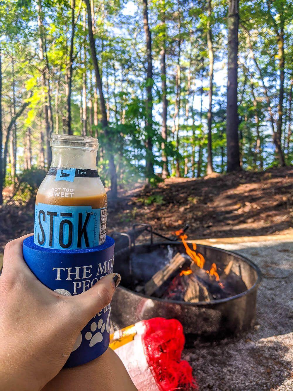 iced coffee camping