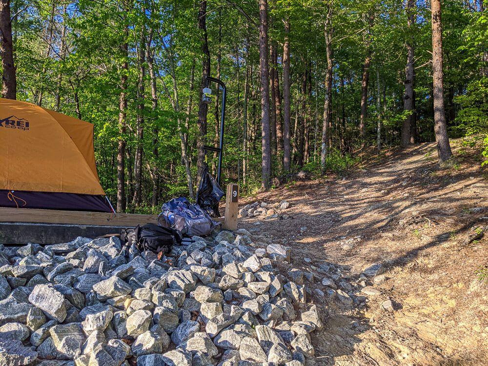 tent at lake jocassee