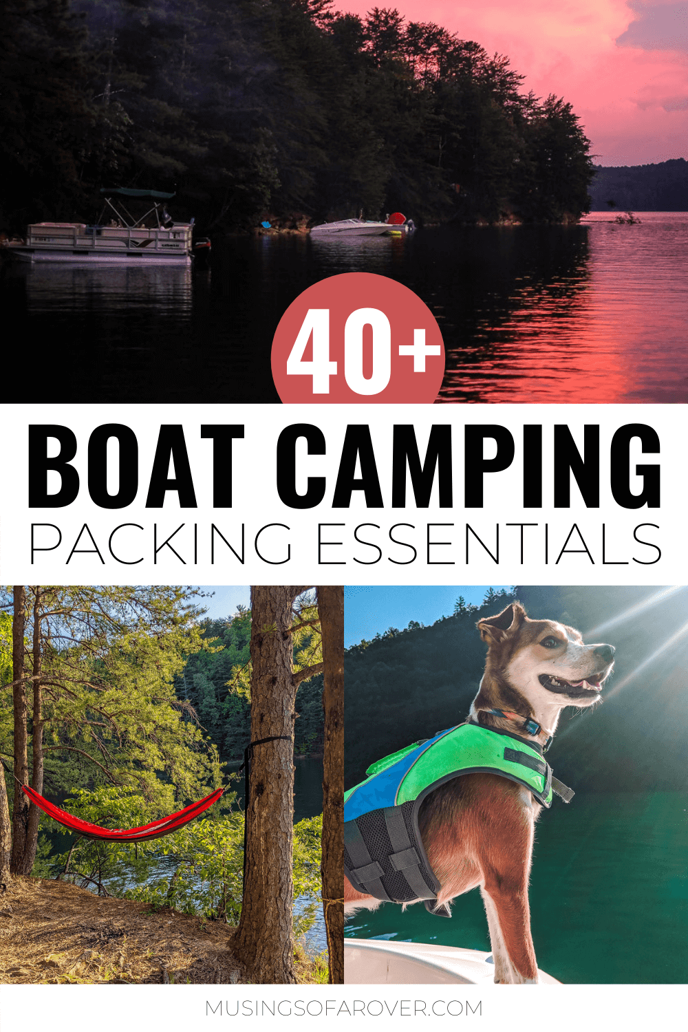 Here you'll find a complete list of everything I bring boat camping. Use this checklist to make sure you pack the essentials you need to have a great trip.