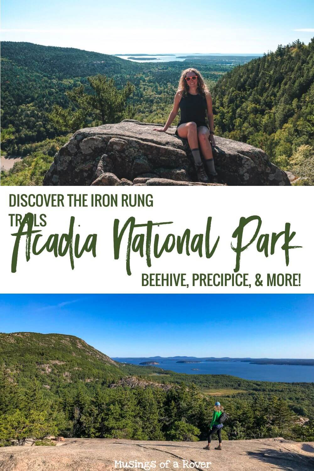 The iron rung trails of Acadia National Park are the most iconic hikes. They're challenging and a bit scary, but they have the most amazing views. They are one of my favorite things to do in the Bar Harbor area. Discover all 4 so you can add the best one to your trip's itinerary.